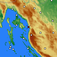 Nearby Forecast Locations - Senj - Map