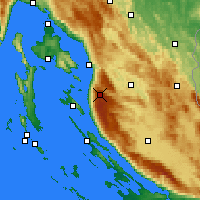 Nearby Forecast Locations - Zavizan - Map
