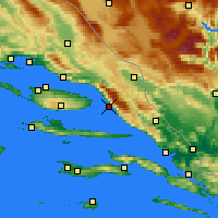 Nearby Forecast Locations - Makarska - Map