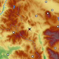 Nearby Forecast Locations - Kustendil - Map