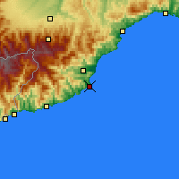 Nearby Forecast Locations - Alassio - Map