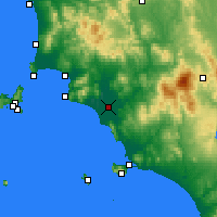 Nearby Forecast Locations - Grosseto - Map