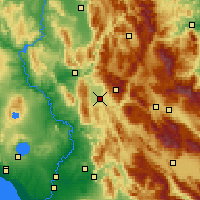 Nearby Forecast Locations - Rieti - Map