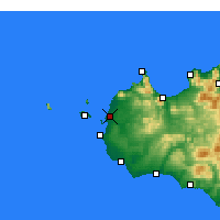Nearby Forecast Locations - Trapani - Map