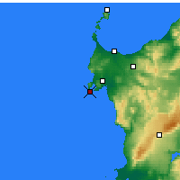 Nearby Forecast Locations - Capo Caccia - Map