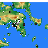 Nearby Forecast Locations - Artemida - Map