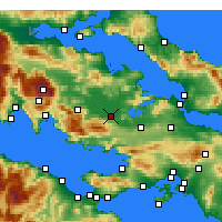 Nearby Forecast Locations - Aliartos - Map