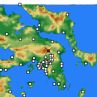 Nearby Forecast Locations - Tatoi Palace - Map