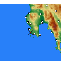 Nearby Forecast Locations - Methoni - Map