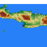 Nearby Forecast Locations - Matala - Map