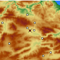 Nearby Forecast Locations - Merzifon - Map