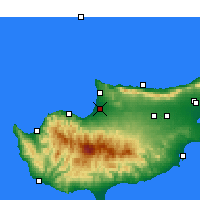 Nearby Forecast Locations - Morphou - Map