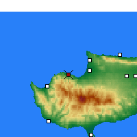 Nearby Forecast Locations - Xerovounos - Map