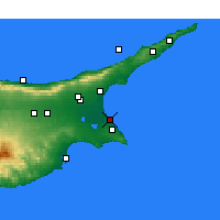 Nearby Forecast Locations - Famagusta - Map