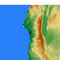 Nearby Forecast Locations - Jableh - Map