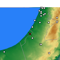 Nearby Forecast Locations - Gaza - Map