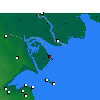 Nearby Forecast Locations - Bubian Island - Map