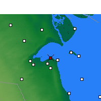 Nearby Forecast Locations - Kuwait City - Map