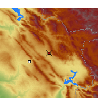 Nearby Forecast Locations - Sulaymaniyah - Map