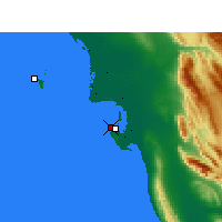 Nearby Forecast Locations - Bushehr Airport - Map