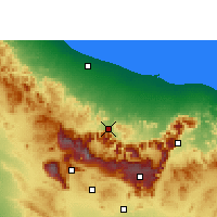 Nearby Forecast Locations - Al-Rustaq - Map