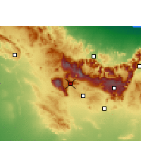 Nearby Forecast Locations - Jebel Shams - Map