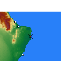 Nearby Forecast Locations - Ras al Hadd - Map
