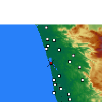 Nearby Forecast Locations - Kochi - Map