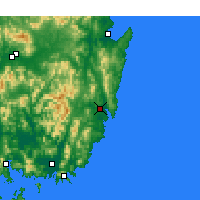Nearby Forecast Locations - Ulsan - Map