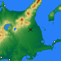 Nearby Forecast Locations - Nakashibetsu - Map