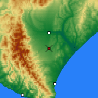 Nearby Forecast Locations - Tokachi - Map