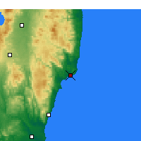 Nearby Forecast Locations - Onahama - Map