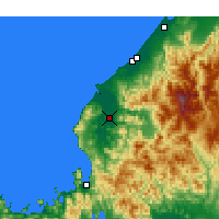 Nearby Forecast Locations - Fukui - Map