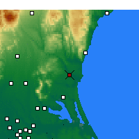 Nearby Forecast Locations - Mito - Map