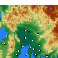 Nearby Forecast Locations - Kakamigahara - Map