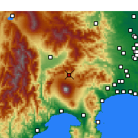 Nearby Forecast Locations - Kawaguchiko - Map