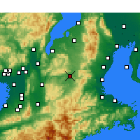 Nearby Forecast Locations - Ueno - Map