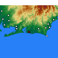 Nearby Forecast Locations - Hamamatsu - Map