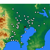Nearby Forecast Locations - Tokyo - Map