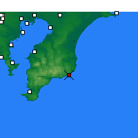 Nearby Forecast Locations - Katsuura - Map