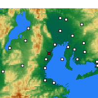 Nearby Forecast Locations - Yokkaichi - Map