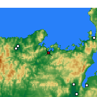 Nearby Forecast Locations - Maizuru - Map