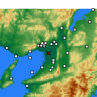 Nearby Forecast Locations - Osaka - Map