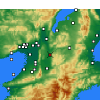 Nearby Forecast Locations - Nara - Map