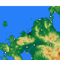Nearby Forecast Locations - Fukuoka - Map