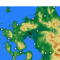 Nearby Forecast Locations - Saga - Map