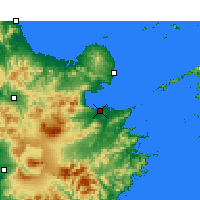 Nearby Forecast Locations - Ōita - Map