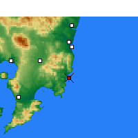 Nearby Forecast Locations - Aburatsu - Map