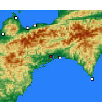 Nearby Forecast Locations - Kōchi - Map