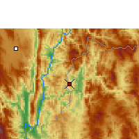 Nearby Forecast Locations - Mae Hong Son - Map